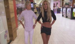 Britney Spears abusa de su fama en centro comercial