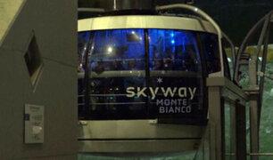 Francia: 110 personas quedaron atrapadas en teleférico