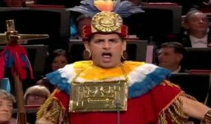 Orgullo peruano: Juan Diego Flórez cantó vestido de inca en Londres