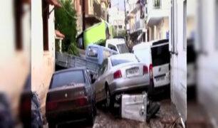 Grecia: tres muertos dejan torrenciales lluvias