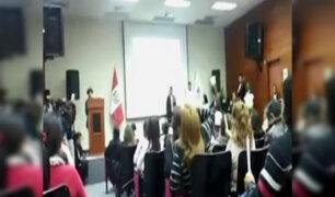 Tania Pariona fue abucheada en ceremonia de homenaje a victimas del terrorismo