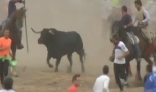 España: inician celebración taurina en la localidad de Tordesillas