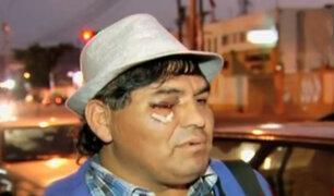 Falso mendigo agredió a chofer de bus en Miraflores