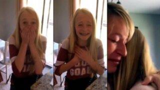 Esta fue la conmovedora reacción de una niña al enterarse que tiene donante de corazón