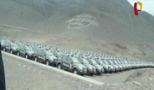 EXCLUSIVO: Lote de patrulleros nuevos se encuentra abandonado en escuela de policías