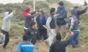 Traficantes de terrenos se enfrentaron violentamente en Huacho