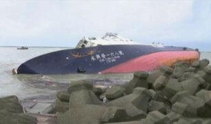Taiwán: embarcación se volcó por paso de tifón Meranti