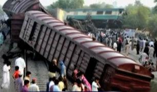 Pakistán: choque de trenes deja 6 muertos y 150 heridos