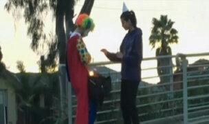 'Payaso suicida' regresa con sus peculiares bromas