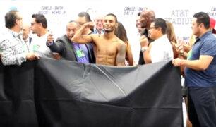 YouTube: boxeador se sacó el calzoncillo para llegar a su peso exacto