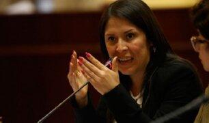 Yeni Vilcatoma no insistirá en denuncia contra parlamentarios y periodistas