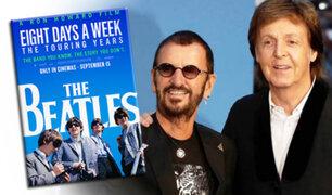Paul McCartney y Ringo Starr, emocionados en la presentación del nuevo documental de Los Beatles