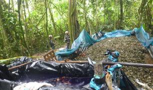 FFAA intervienen campamento y laboratorio de droga en Ayacucho