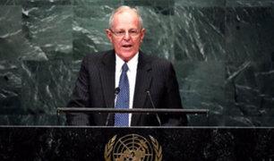PPK se presenta ante la Asamblea General de las Naciones Unidas
