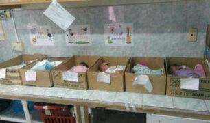 Venezuela: colocan a bebés recién nacidos en cajas de cartón