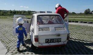 Polonia: niño de cuatro años ya es piloto de drifting