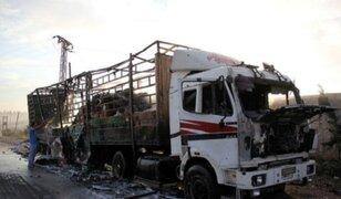 ONU suspende ayuda humanitaria a Siria tras ataque a convoy