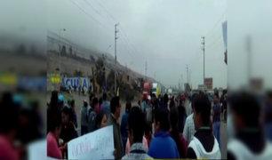 Chancay: bloquean Panamericana Norte para exigir puente peatonal
