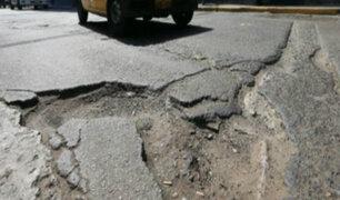 Detectan perjuicio de S/ 2.7 mllns en parchado de pistas de seis distritos limeños