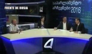 Georgia: candidatos al parlamento se pelean en set de televisión