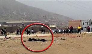 Encuentran restos calcinados de dos personas en Jicamarca