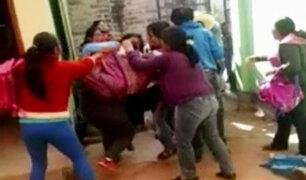 Cajamarca: madres se pelean en nido frente a niños