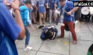 YouTube: golpean salvajemente a hincha de fútbol en China