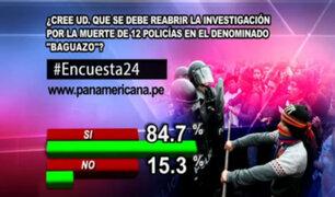 Encuesta 24: 84.7% cree que se debe reabrir investigación por caso 'Baguazo'