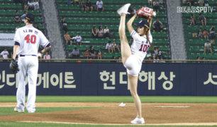 Modelo coreana es viral por hacer el lanzamiento de baseball más sexy de la historia [FOTOS y VIDEO]