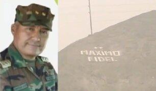 Destituyen a general de Diroes que ordenó pintar su nombre en cerro