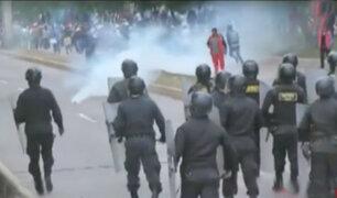Cusco: profesores bloquean vía en Sacsayhuamán en tercer día de paro