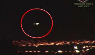 Arequipa: cámaras de seguridad graban durante 40 minutos supuesto OVNI