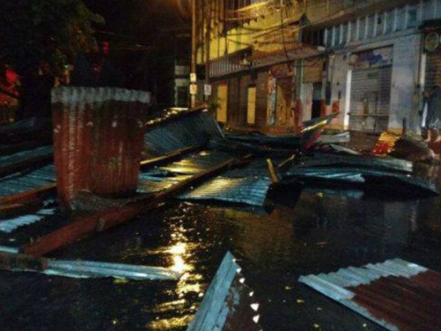Iquitos: un muerto y más de 30 heridos tras intensa lluvia y fuertes vientos