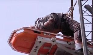 Surquillo: trabajador murió electrocutado en lo alto de panel