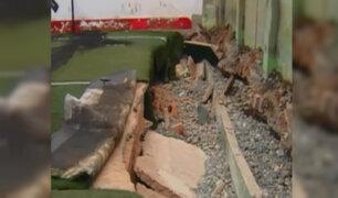 Callao: vecinos piden restaurar cancha de fulbito afectada por mar