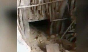 Tumbes: encuentran túnel en construcción en vivienda de Carlos Feijoó