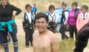 Huancayo: vecinos castigaron a sujeto que asaltó a turista española