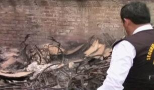 San Luis: supervisan almacén donde se quemaron sillas de ruedas