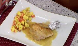 Aprende la receta del pollo horneado a los 40 dientes de ajo