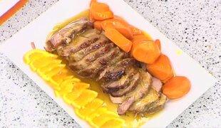 Aprende una receta casera para preparar cerdo en salsa de naranja