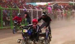 Rápidos y Furiosos a la Huancaína: una tradicional carrera de mototaxis