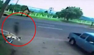 ¿Es esta el alma de una mujer que murió segundos antes en un accidente? [VIDEO]