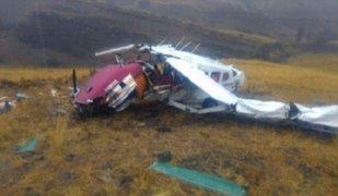 Caída de avioneta deja tres muertos en Cajamarca
