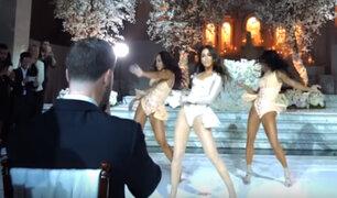 Novia sorprende en su boda con un baile a ritmo de Beyoncé