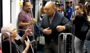 Video de ancianos bailando hip hop en el metro causa sensación en Facebook