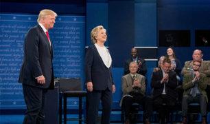 Hillary Clinton y Donald Trump protagonizan fuerte encuentro durante debate