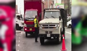 SMP: realizan operativo contra mototaxis y camiones