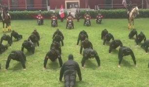 Policías peruanos aceptan reto mundial