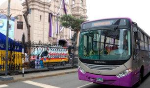 'Corredor morado' amplía su ruta y llega hasta av. Tacna