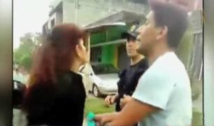 Mujer en aparente estado de ebriedad agrede a policías en Huánuco
